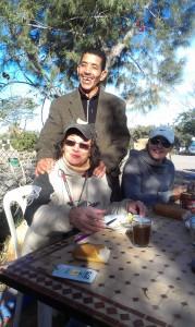 Erst kurz in Marokko und schon neue Freunde gefunden...;)