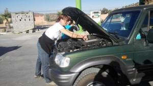 Frauenauto muckt